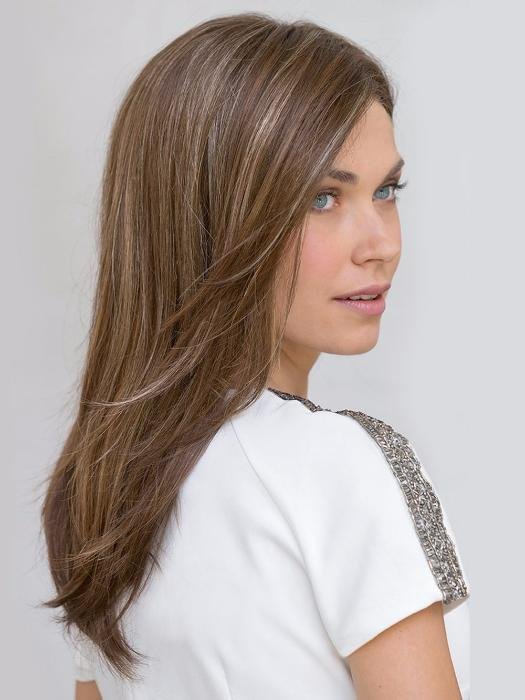 This is luxury workmanship at its finest creating the perfect wig wearing experience. Featuring a very thin hand-knotting double-monofilament top with lace front