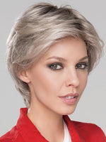 CITTA MONO by ELLEN WILLE in SILVER ROOTED | Light medium silver w/light browns blended w/cool platinum silver tones and pearl blonde tones