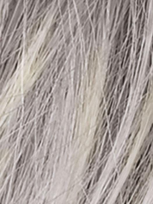SILVER BLONDE ROOTED 60.23 | Pure Silver White and Pearl Platinum Blonde Blend, with a Dark Root