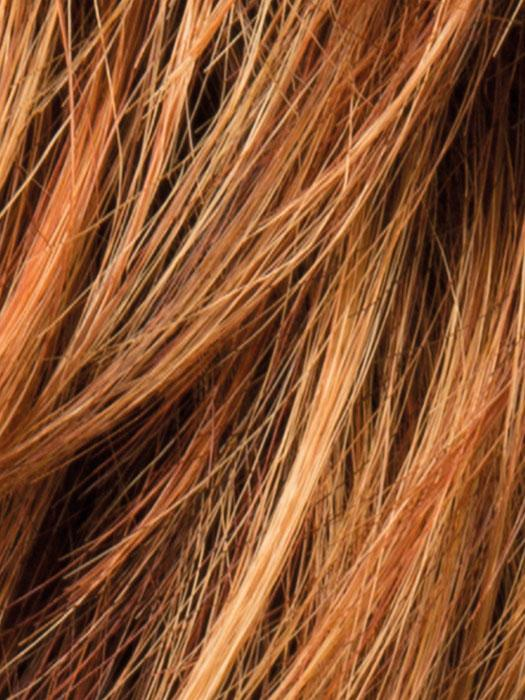 SAFRAN BROWN ROOTED - 30.28.27 | Medium Auburn, copper Red and light auburn blend with Med Auburn Roots
