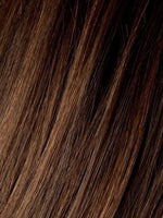 CHOCOLATE ROOTED - 830.27.6 | Medium to Dark Brown base with Light Reddish Brown highlights and Dark Roots