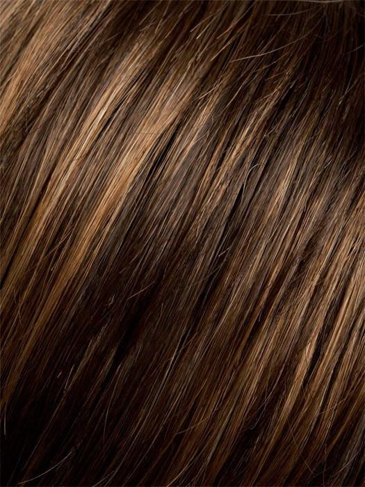 6/830-6 | Warm Medium Brown blended with Medium to Light Reddish Brown on the top, with a Warm Medium Brown at the nape