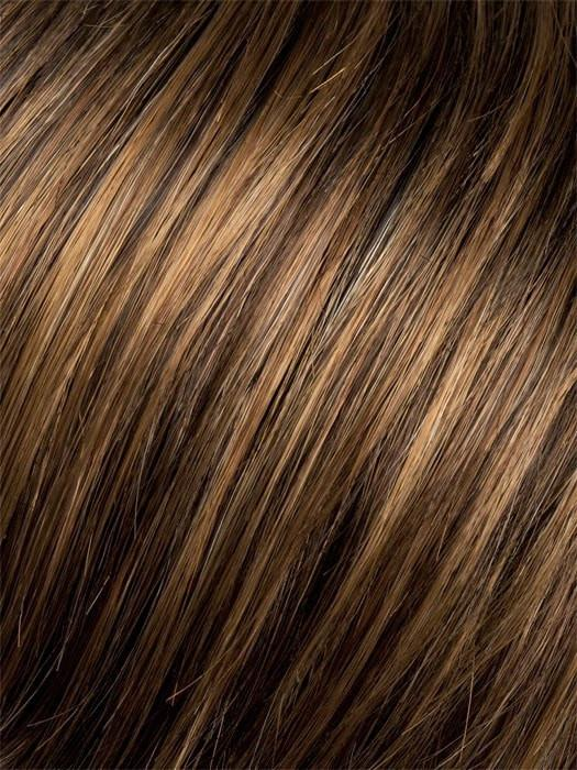 830/27-830 | Medium to Light Reddish Brown blend with Light Auburn on top, with a Medium to Light Reddish Brown nape