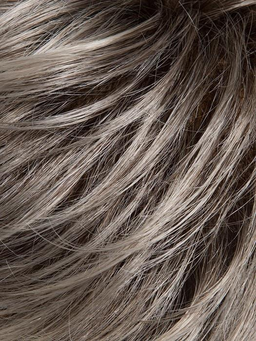 SILVER-ROOTED | Pure Silver White and Pearl Platinum Blonde Blend and Dark Brown Roots