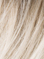 LIGHT-CHAMPAGNE-ROOTED | Pearl Platinum and Light Golden Blonde Blend with Medium Brown Roots