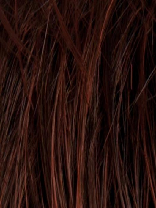DARK AUBURN ROOTED | Dark Auburn, Bright Copper Red, and Dark Brown blend with darker roots