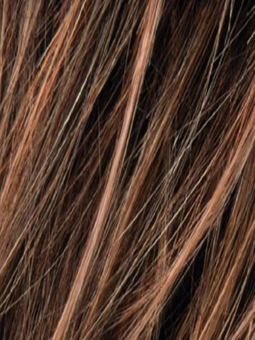HOT MOCCA ROOTED | Medium Reddish Brown , light Auburn, Dark Auburn Brown Roots