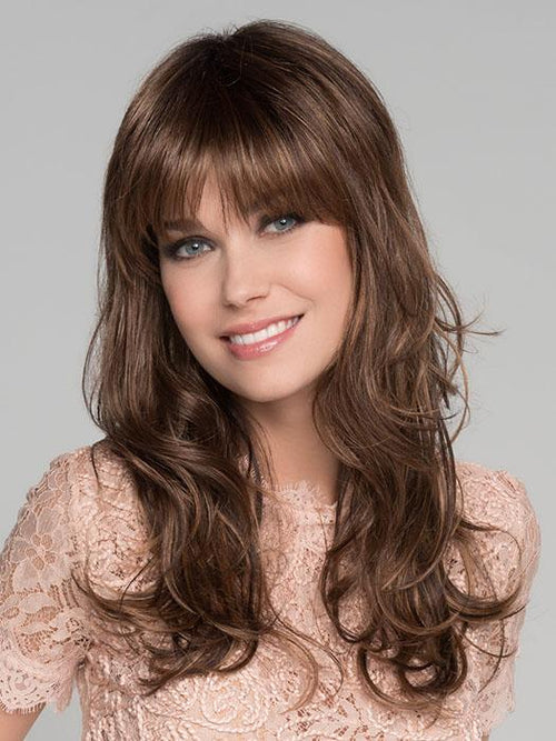 PRETTY by ELLEN WILLE in | CHOCOLATE ROOTED | Medium to Dark Brown base with Light Reddish Brown highlights and Dark Roots