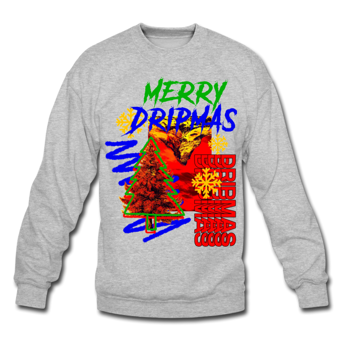 Merry Dripmas - Unisex Crewneck - heather gray