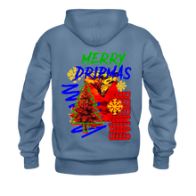 Load image into Gallery viewer, Merry Dripmas - Unisex Hoodie - denim blue