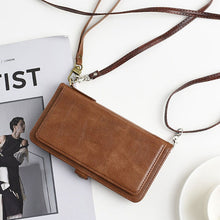 Load image into Gallery viewer, Shoulder Strap Cord Magnet Flip Case For iPhone 2020 Card Holder Book Wallet Cover