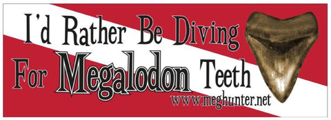 Bumper Sticker - I'd Rather Be Diving
