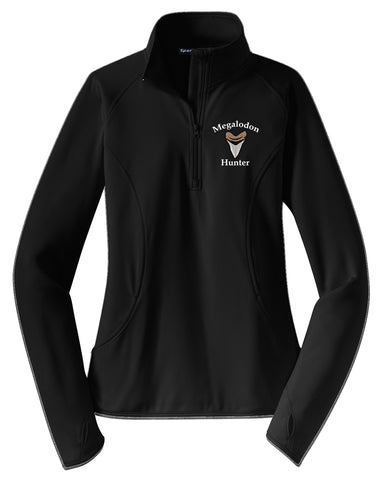Megalodon Hunter Ladies Embroidered 1/2 Pullover