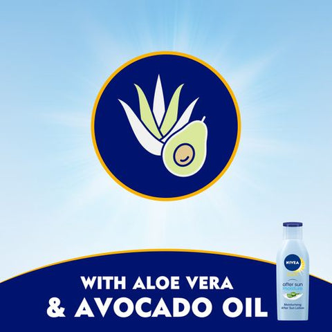 Nivea SUN After Sun Moisturizing Lotion - Aloe Vera & Avocado Oil - 200ml