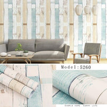 Load image into Gallery viewer, Home Wall decor Self Adhesive Bedroom Girl Warm Waterproof Wallpaper Brick Wood Texture Sticker Wall Sticker Dormitory Cartoon