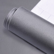 Load image into Gallery viewer, 60CM wide wallpaper self-adhesive 10 meters solid color gray white Boeing film furniture renovation stickers frosted waterproof
