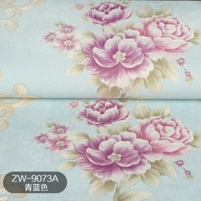 3D European garden flower warm peony pvc wallpaper romantic European wedding room background wall living room bedroom decoration