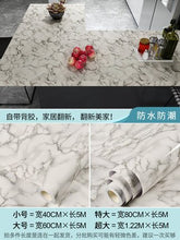 Load image into Gallery viewer, 80cm wide waterproof marble pattern stickers kitchen oil-proof cabinet table furniture renovation wallpaper self-adhesive