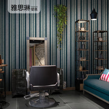 Load image into Gallery viewer, Good quality modern minimalist nordic style wallpaper background wall bedroom living room mediterranean blue vertical stripes