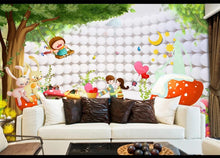 Load image into Gallery viewer, Custom large mural 3D wallpaper Nordic modern cartoon fantasy orb on white bedroom mural TV back wall decor deep 5D embossed