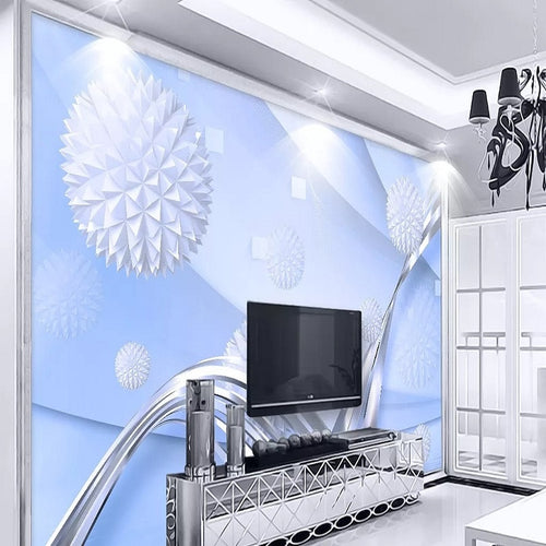 Custom large mural 3D wallpaper Modern creative 3D expansion space abstract sphere bedroom TV back wall decor deep 5D embossed