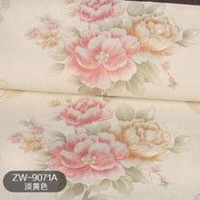 Load image into Gallery viewer, 3D European garden flower warm peony pvc wallpaper romantic European wedding room background wall living room bedroom decoration