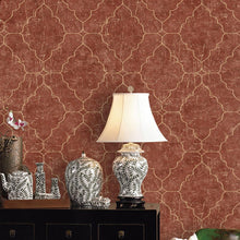 Load image into Gallery viewer, European fresh and elegant 3D wallpaper mottled color Damascus diamond line design household commerce wall marble wallpaper