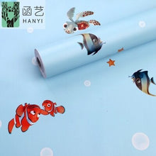 Load image into Gallery viewer, DIY Children's room cartoon creative simple fashion flower PVC self-adhesive wallpaper bedroom living room furniture renovation