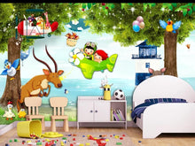 Load image into Gallery viewer, Custom large mural 3D wallpaper Fairy tale cartoon animal world boy child bedroom mural TV back wall decor deep 5D embossed