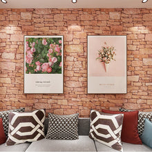 Load image into Gallery viewer, home decor Vintage brick wall paper self-adhesive waterproof restaurant living room background wall stickers balcony decoration