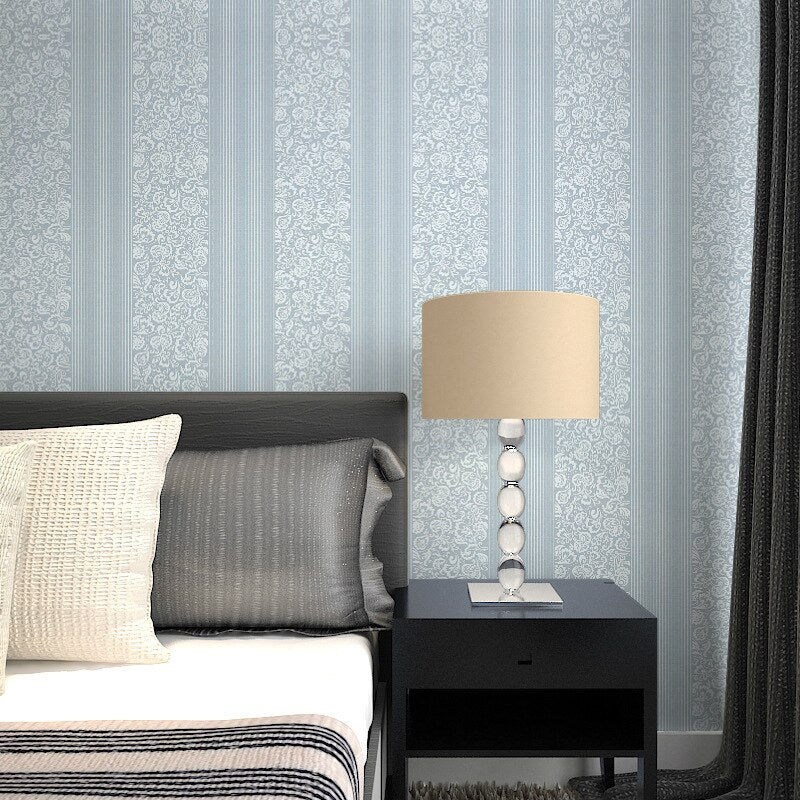 Modern minimalist multi color striped non-woven wallpaper art flower pattern high-end home decoration for living room bedroom