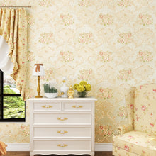 Load image into Gallery viewer, embossed Exquisite American country bedroom flower non-woven 5d wallpaper for kids European style living room elegant TV back