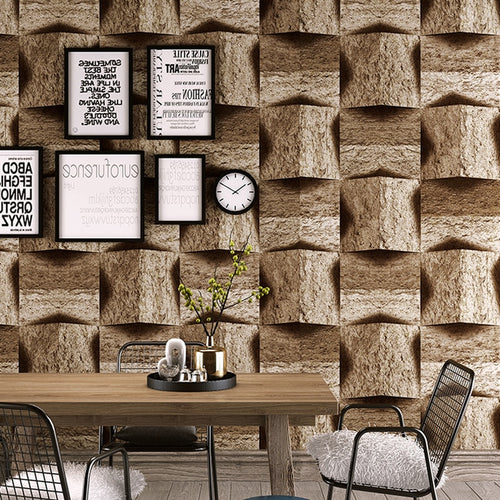 3d marble stone pattern pvc wallpaper vintage nostalgic antique personality bar recreational area background wall wallpaper