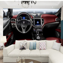 Load image into Gallery viewer, 1.5m width HD KTV Wallpaper Cafe Bar auto Maserati Theme personalized Wall decoration 3D Living Room TV Background Wall Paper