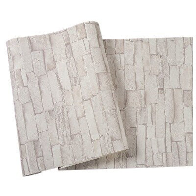 Chinese Retro nostalgic 3D imitation brick PVC  wallpaper pub theme restaurant shop culture stone grey red brick pure wallpaper