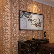 Load image into Gallery viewer, Chinese classical wallpaper imitation wood carving window pane wallpaper living room study hallway TV background wall covering