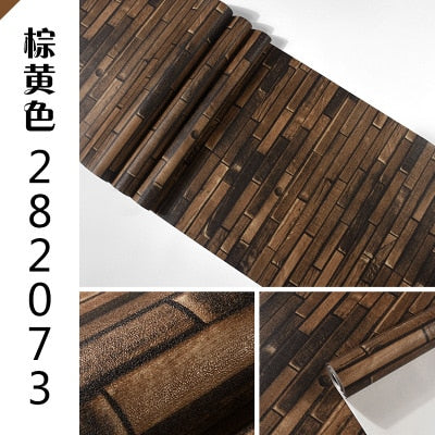 custom 3d American retro personality wood plank brick vinyl wallpaper bar restaurant clothing store cafe background wallpaper