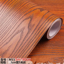 Load image into Gallery viewer, 5m*90cm sticker wood grain wallpaper self-adhesive thickening rosewood 3D wardrobe door waterproof home renovation wall stickers