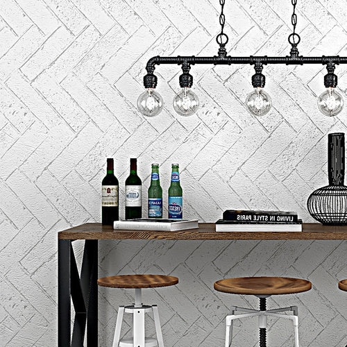 Hot fashion white brick wallpaper 3d retro vintage imitation brick red brown grey cement background Nordic style brick wallpaper
