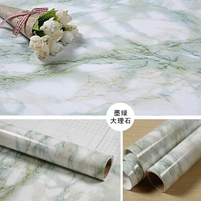 Thick marble pattern refurbished stickers pvc self-adhesive wallpapers wall paper waterproof wall stickers countertop cabinet