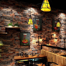 Load image into Gallery viewer, Chinese Retro nostalgic 3D imitation brick PVC  wallpaper pub theme restaurant shop culture stone grey red brick pure wallpaper
