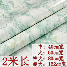 Load image into Gallery viewer, 80cm Kitchen oil stickers self-adhesive marble pattern waterproof cabinet stove countertop wallpaper desktop bathroom renovation