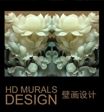 Load image into Gallery viewer, 3D stereo HD Customized jade carving flowers wallpaper mural living room unique Chinese style wall covering hallway screen mural