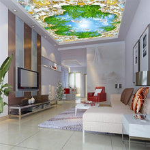 Load image into Gallery viewer, 3D customized Europe style ceiling wallpaper palace green tree blue sky painting waterproof mural home improvement wall covering
