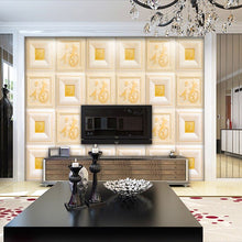 Load image into Gallery viewer, 2m long 1.5m wide classic 5D stereo custom luxury gold Chinese blessing large murals living room TV film background wall paper