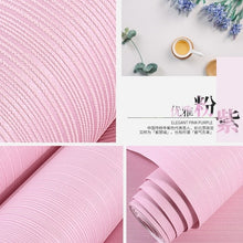 Load image into Gallery viewer, 3D Modern minimalist atmospheric stripes wallpaper pure color non-woven thick bedroom living room hotel decoration wall paper