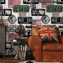 Load image into Gallery viewer, American retro tide wallpaper loft industrial poster wallpaper PVC personality graffiti Internet bar TV background wall murals