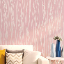 Load image into Gallery viewer, Best quality 3D strip bump non-woven wallpaper colorful simple beauty wall covering for home wall decor papel de parede