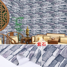 Load image into Gallery viewer, PVC wallpaper self-adhesive waterproof wallpaper thick brick pattern wall paper home decorative wall sticker student dormitory