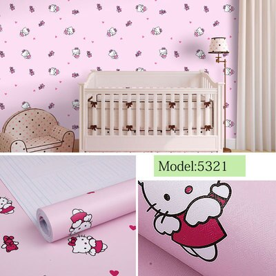 DIY PVC Girl heart room layout pink wallpaper self-adhesive bedroom girl warm college student dormitory wallpaper self-adhesive